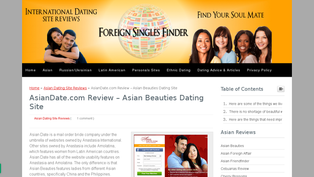 a foreign affair dating reviews